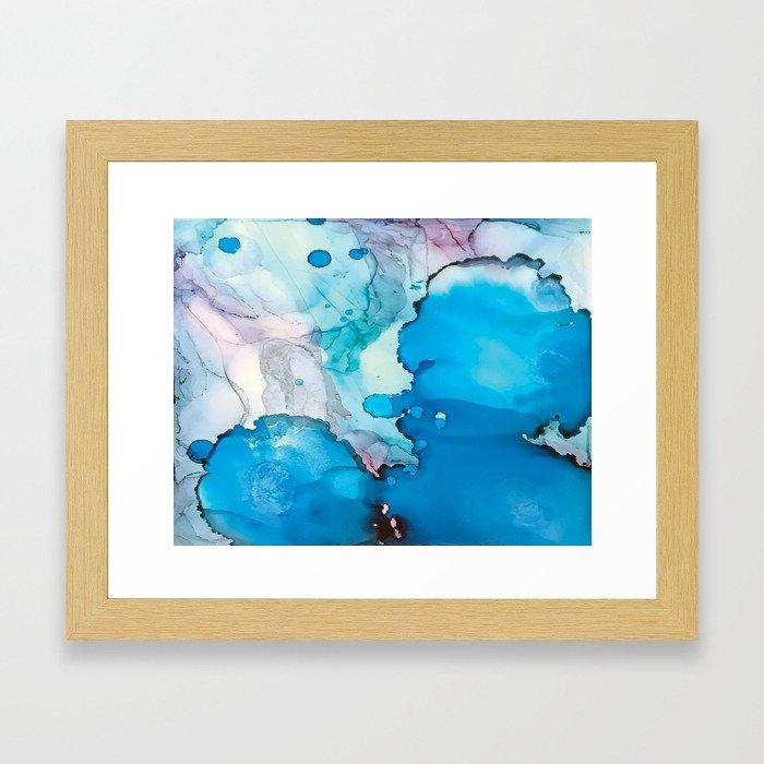 Drops of Blue Framed Art Print