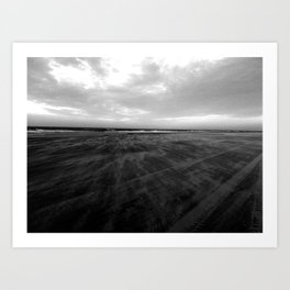 Dark beach Art Print