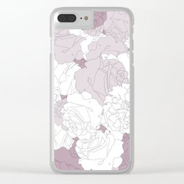Tender Roses Clear iPhone Case