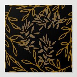 Leafy Brown Canvas Print