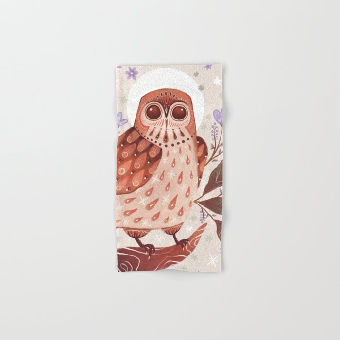 Owl Blooms Hand & Bath Towel