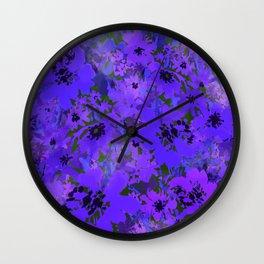 Heavenly Blue Garden Wall Clock