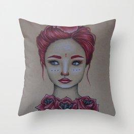 The Rose Princess Throw Pillow