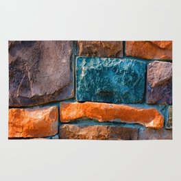 Colored Stone Wall Rug