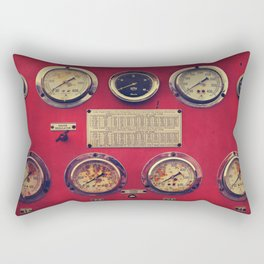 Old Gauges on a Fire Truck Rectangular Pillow