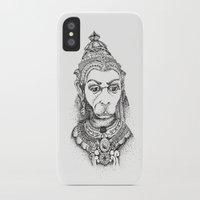 hindu iPhone & iPod Cases featuring Hindu Deity (Hanuman) by The Artful Yogini