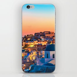 Summer Night in Santorini Photography  iPhone Skin