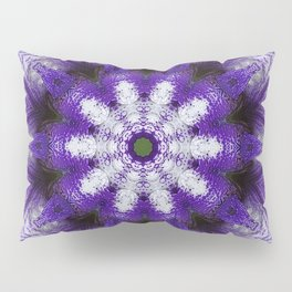 Glowing Violet Star - Iris Stepping Out Kaleidoscope Pillow Sham