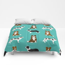 Border Collie mixed coats dog breed pattern gifts collies dog lover Comforters