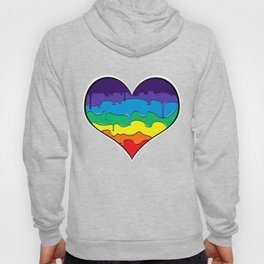Rainbow Drip Heart Hoody