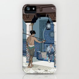 A meeting on a sunny day in a foreign land iPhone Case