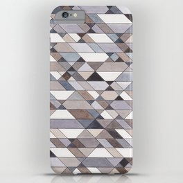 Triangle Pattern no.22 grays iPhone Case