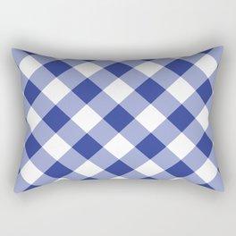 Gingham - Navy Rectangular Pillow