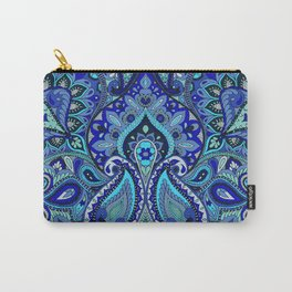 Paisley Blue Carry-All Pouch