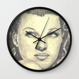 Rita Hayworth Wall Clock