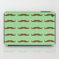 moustache iPad Cases featuring Moustache  by Rjvita