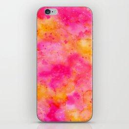 Pink & Orange Watercolor Background iPhone Skin