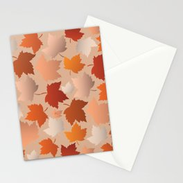 Pretty Autumn Leaves Pattern Stationery Cards