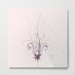 Whimsical Wilde Flower Metal Print