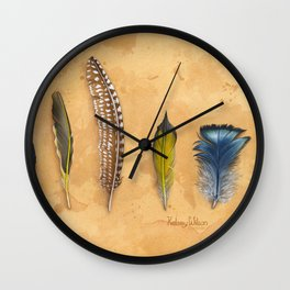 Midwest Feathers Wall Clock