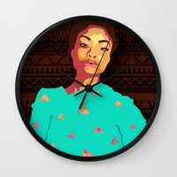 girly Wall Clocks featuring Girly by UnifiedGlory