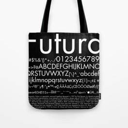 Futura (White) Tote Bag