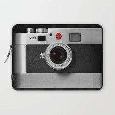 classic retro Black silver Leather vintage camera iPhone 4 4s 5 5c, ipod, ipad case Laptop Sleeve