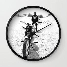 The Motorcycle Racing Team Wall Clock