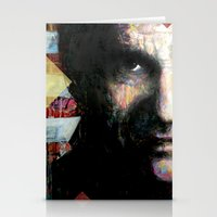 johnny cash Stationery Cards featuring Johnny Cash by Glen Ronald