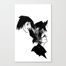 Freedom for my crows... Canvas Print