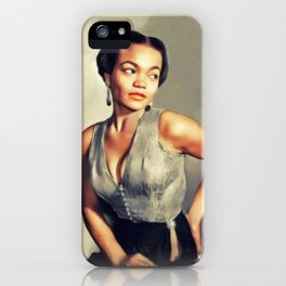 Eartha Kitt, Hollywood Legend iPhone Case