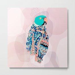 Bird and foulard Metal Print