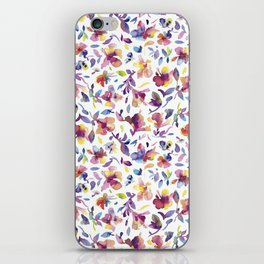 watery hibiscus flowers - Multicolored tropical pattern iPhone Skin