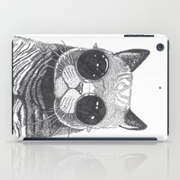 anaconda iPad Cases featuring cool cat by Polkip