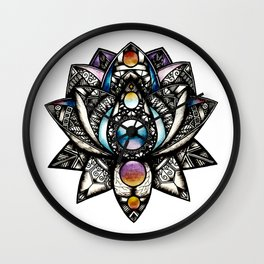 Lotus flower Wall Clock