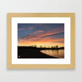 Sunset in Jerico Framed Art Print
