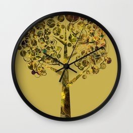 Gold tree larger Wall Clock