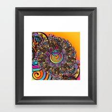 CALLIGRAPHIC LETTER TO A FLOWER Framed Art Print