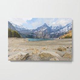 Oeschinen Lake Bernese Oberland Switzerland Metal Print