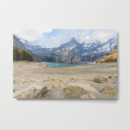 Oeschinen Lake Bernese Oberland Switzerland Metal Print