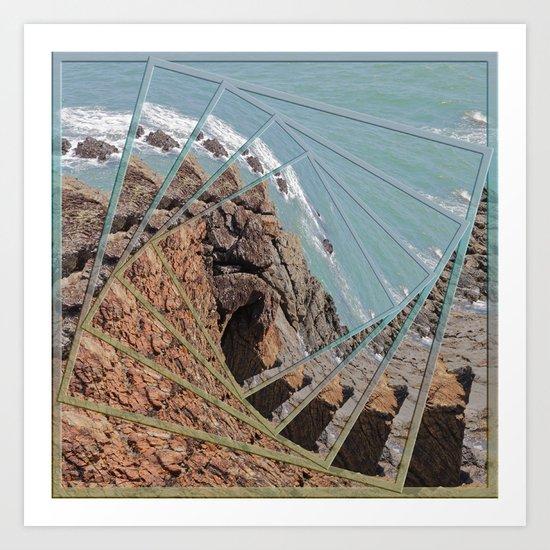 Ocean View in a Twist Art Print