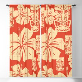 Red Hawaii Blackout Curtain
