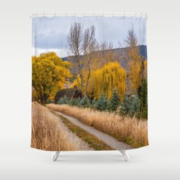 Colorado Little Red Barn Shower Curtain