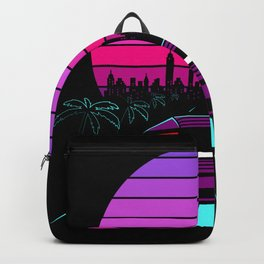 Retro Wave Sport Auto 80s Gift Backpack