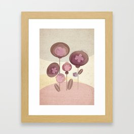Flowers en Rose Framed Art Print