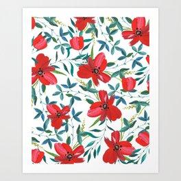 Red Blossom #society6 #decor #buyart Art Print