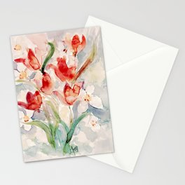 Tulips and Narcissi for Easter Stationery Cards