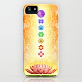 Sacred Lotus - The Seven Chakras .I iPhone Case