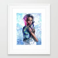northern lights Framed Art Prints featuring Northern Lights by Tanya Shatseva