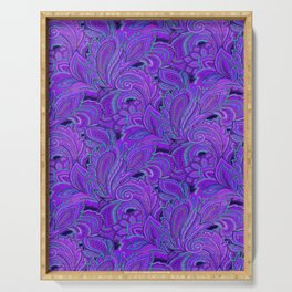 paisley paisley purple Serving Tray